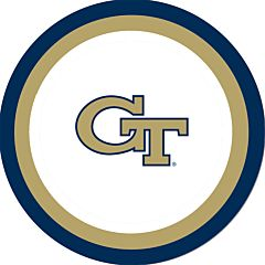 "Georgia Tech - 9"" Paper Plate 10Ct"