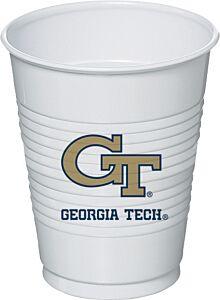 Georgia Tech - 16 oz Plastic Cup 8ct