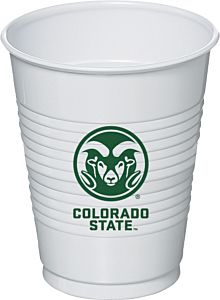 Colorado State - 16 oz Plastic Cup 8ct