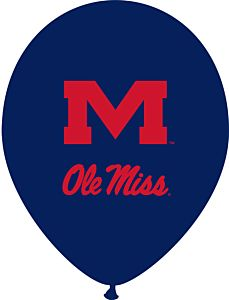 "11"" University of Mississippi Latex 10ct"