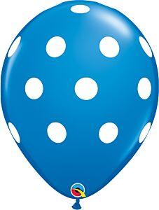 """16"""" Big Polka Dots Latex - Dark Blue"""