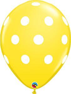 "16"" Big Polka Dots Latex - Yellow"
