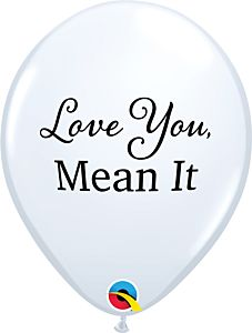 "11"" Simply Love Mean It Latex - White"
