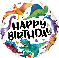 "18"" Birthday Colorful Dinosaurs"