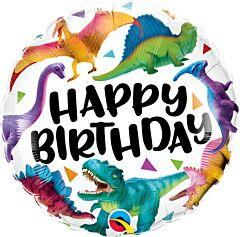 "18"" Birthday Colorful Dinosaurs"