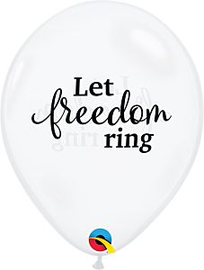 """11"""" Simply Let Freedom Ring Latex"""