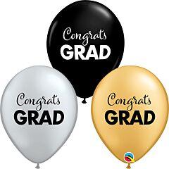"""11"""" Simply Congrats Grad Latex"""