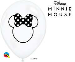 """11"""" Minnie Mouse Silhouette Latex"""
