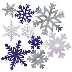 Foil Snowflake Cutout 12Ct