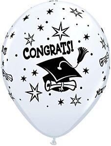 "11"" Congrats Cap Latex - White"