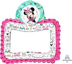 "27"" Selfie Frame Minnie Happy Helpers Consumer Inflate"