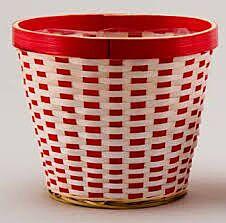 "6"" Red & White Potcover"