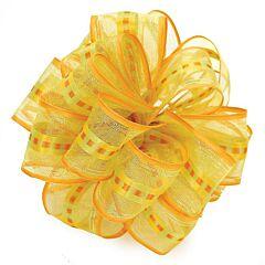 "1.5"" x 50yd Chamblee Wired-Edge Ribbon - Orange"