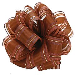 "1.5"" x 50yd Indulgence Wired-Edge Ribbon - Chocolate"