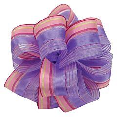 "1.5"" x 50yd Wired-Edge Ribbon Spring Lavender"