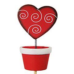 "3"" Heart Pot Wiggle Floral Pick"
