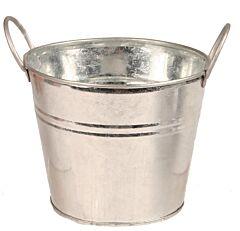 """7.25"""" Galvanized Pot"""