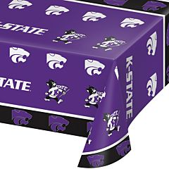 "54X108"" Plastic Table Cover - Kansas State"
