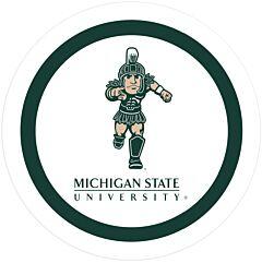 "Michigan State - 9"" Plate 12CT"