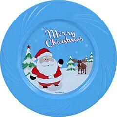 "6.5"" Christmas Plastic Plate 20/6"