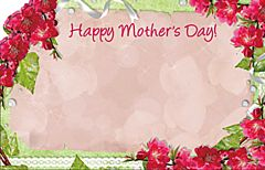 Enclosure Card - Happy Mother's Day Red Floral