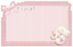 Enclosure Card-Its Girl Booties