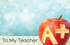 Enclosure Card - To My Teacher