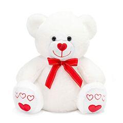 "14.5"" White Bear Plush"