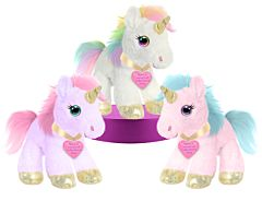 "10"" Unicorn Plush with Valentine tag"