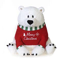 """12"""" Xmas Polar Bear Plush"""